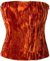 Haider Ackermann creased effect strapless top