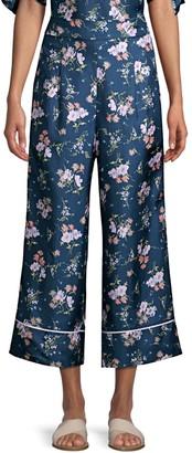 Rebecca Taylor Emilia Wide-Leg Silk Pants