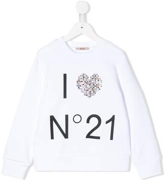 No.21 Kids embellished-logo sweatshirt