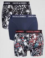 Jack and Jones Trunks 3 Pack Graffiti
