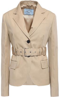 Prada Belted Cotton Blazer