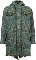 Coohem tweed hooded coat - men - Cotton/Acrylic/Nylon/Wool - 46