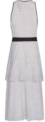 Adrianna Papell Polka Dot Printed Tiered Dress