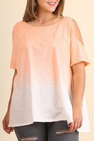 Umgee USA Sunset Cold Shoulder Top