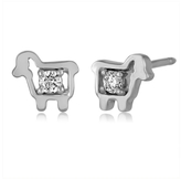 Julie Lamb Diamond Lamb Stud Earrings