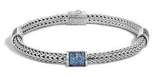 John Hardy 4-Station Classic Chain Blue Sapphire Bracelet