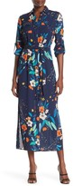 Nanette Lepore Nanette Long Sleeve Printed Maxi Dress