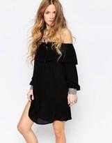 Glamorous Off Shoulder Long Sleeve Festival Dress