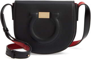 Salvatore Ferragamo Gancio City Leather Crossbody Bag