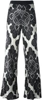 Hache floral print flared trousers