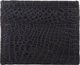 Barneys New York Men's Alligator Flat Card Case-BLACK