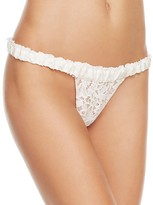 For Love & Lemons Sage Lace Thong