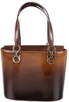 Salvatore Ferragamo Ombre Patent Leather Satchel