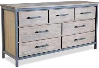 Apt2B Lofton 7 Drawer Dresser ACACIA/IRON