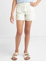 Gap Embroidery stripe tassel shorts
