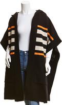 Burberry Monogram Intarsia Wool & Cashmere-Blend Cape