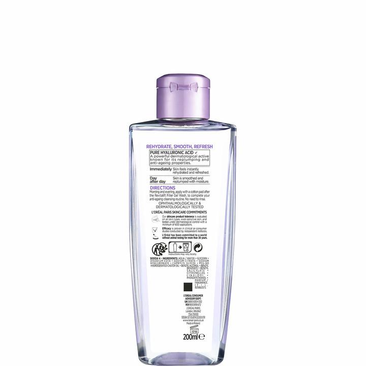 Thumbnail for your product : L'Oreal Revitalift Filler [+ Hyaluronic Acid] Face Toner 200ml
