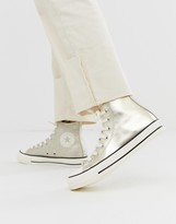 Converse chuck taylor all star hi gold glitter sneakers