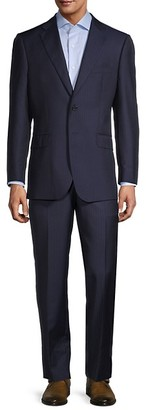 Saks Fifth Avenue Tailored Fit Pinstriped Wool Suit