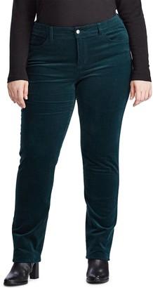 Chaps Plus Size Corduroy Straight Leg Pants