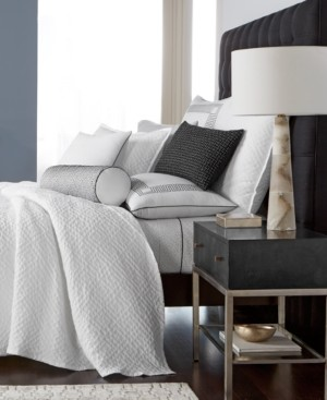 Hotel Collection Greek Key Cotton Quilted King Coverlet, Created for Macy's Bedding