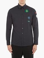 Raf Simons Navy Patch-Detail Shirt
