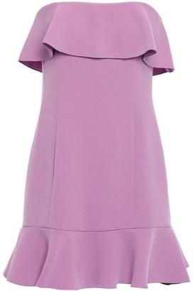 Rachel Zoe Strapless Ruffle-trimmed Crepe Mini Dress