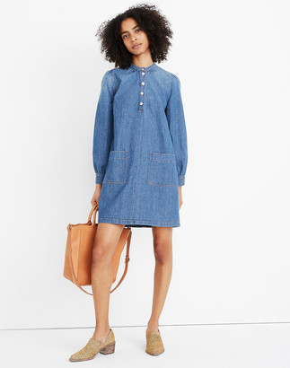 Madewell Denim Patch-Pocket Popover Shirtdress