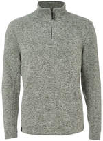Dissident Men's Canterbury Zip Down Sweatshirt - Grey Fleck