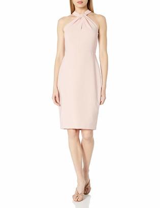 Taylor Dresses Women's Criss Cross Neck Sheath Dress