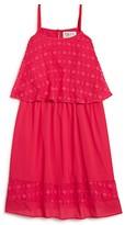 Blush by Us Angels Girls' Diamond Popover Dress - Sizes 7-16