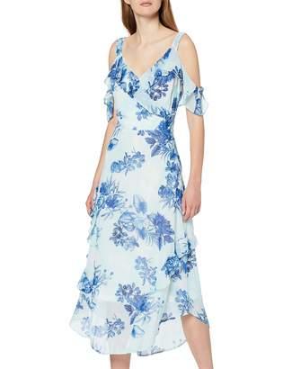 Dorothy Perkins Women's Cold Shoulder Floral Printed Maxi Dress