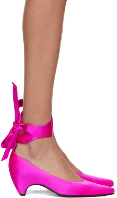 Stella McCartney Pink Satin Mary Jane Heels