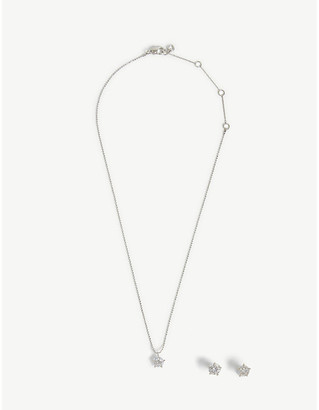 Kate Spade Star cubic zirconia necklace and earrings set