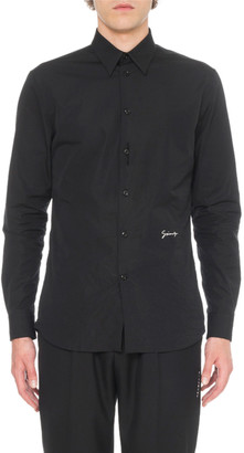 Givenchy Men's Embroidered Woven Shirt