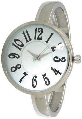 Women Artsy Large Face Thin Band Cuff Bangle Watch 40mm