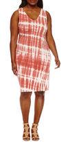 BELLE + SKY Sleeveless Bodycon Dress-Plus