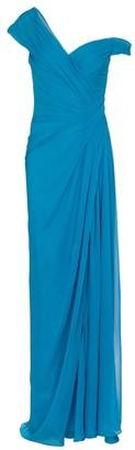 Monique Lhuillier Silk chiffon gown