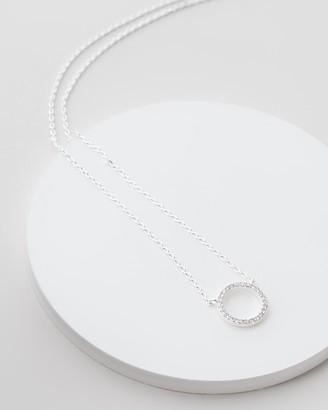 Estella Bartlett Large Pave Set Circle CZ Necklace