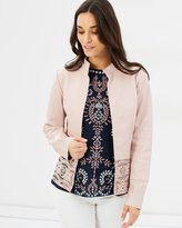VERA - Leather Jacket Rose
