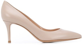 Gianvito Rossi Pointed Leather Pumps