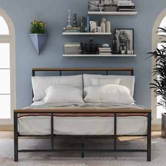 Latitude Run Edwuin Twin Solid Wood Platform Bed