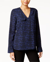 Rachel Roy Printed Utility Blouse, Only at Macy's