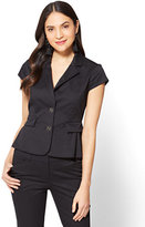 New York & Co. 7th Avenue - Two-Button Peplum Jacket - Black - Tall