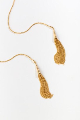 francesca's Jordan Tassel Wrap Necklace - Gold
