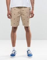 Vans Dewitt Monogram Shorts In Beige V1xkjcr