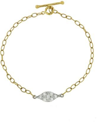 Cathy Waterman Acorn Fringe Yellow Gold Bracelet