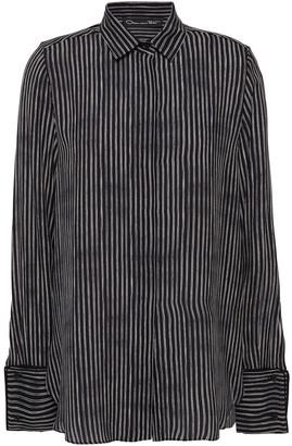 Oscar de la Renta Pinstriped Silk Shirt