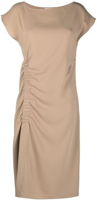 P.A.R.O.S.H. Ruched Short-Sleeve Dress