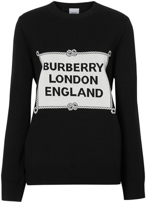 Burberry Rigging Intarsia Merino Wool Sweater